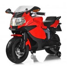 Детский мотоцикл Bambi M 3636 EL-3 BMW, красный