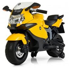Детский мотоцикл Bambi M 3636 EL-6 BMW, желтый
