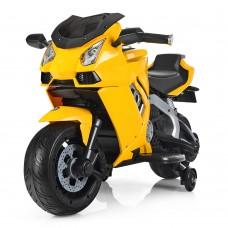 Детский мотоцикл Bambi M 3637 EL-6 Lamborghini, желтый