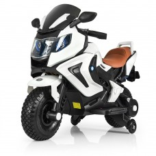 Детский мотоцикл Bambi M 3681 AL-1 BMW, черно-белый
