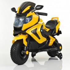 Детский мотоцикл Bambi M 3681 AL-6 BMW, черно-желтый