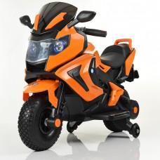 Детский мотоцикл Bambi M 3681 AL-7 BMW, черно-оранжевый