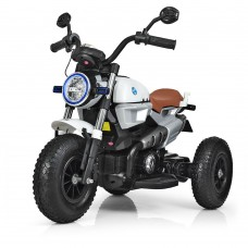 Детский мотоцикл Bambi M 3687 AL-1 BMW, белый