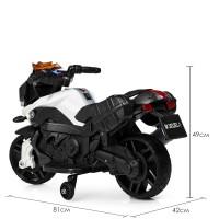 Детский мотоцикл Bambi M 3832 EL-1 BMW, черно-белый