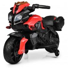 Детский мотоцикл Bambi M 3832 EL-2-3 BMW, черно-красный