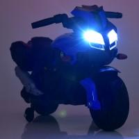 Детский мотоцикл Bambi M 3832 EL-2-4 BMW, черно-синий