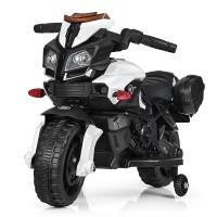 Детский мотоцикл Bambi M 3832 L-1 BMW, черно-белый