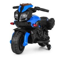 Детский мотоцикл Bambi M 3832 L-2-4 BMW, черно-синий