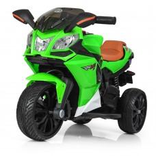 Детский мотоцикл Bambi M 3912 EL-5 BMW, зеленый