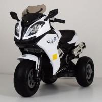 Детский мотоцикл Bambi M 3913 EL-1 BMW, белый