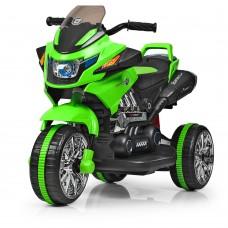 Детский мотоцикл Bambi M 3928 L-5, черно-зеленый