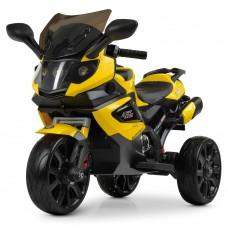 Детский мотоцикл Bambi M 3986 EL-6 BMW, желтый