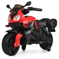 Детский мотоцикл Bambi M 4080 EL-3 BMW, красный