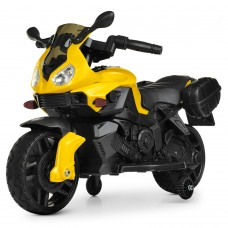 Детский мотоцикл Bambi M 4080 EL-6 BMW, желтый