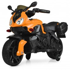 Детский мотоцикл Bambi M 4080 EL-7 BMW, белый, оранжевый