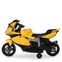Детский мотоцикл Bambi M 4082-6 BMW, желтый