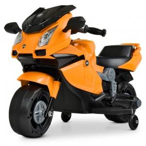 Детский мотоцикл Bambi M 4082-7 BMW, оранжевый