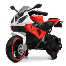 Детский мотоцикл Bambi M 4103-1-3 BMW, бело-красный
