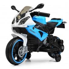 Детский мотоцикл Bambi M 4103-1-4 BMW, бело-голубой