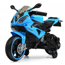 Детский мотоцикл Bambi M 4103-4 BMW, голубой