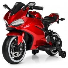 Детский мотоцикл Bambi M 4104 ELS-3 Ducati, красный