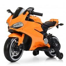 Детский мотоцикл Bambi M 4104 ELS-7 Ducati, оранжевый
