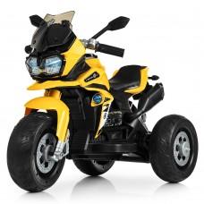 Детский мотоцикл Bambi M 4117 EL-6 BMW, желтый