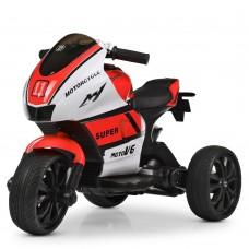 Детский мотоцикл Bambi M 4135 EL-1-3 Yamaha, бело-красный