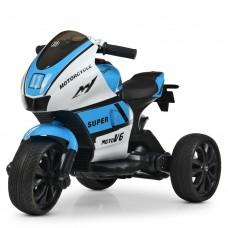 Детский мотоцикл Bambi M 4135 EL-1-4 Yamaha, бело-синий