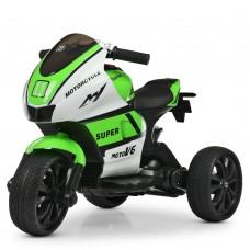 Детский мотоцикл Bambi M 4135 EL-1-5 Yamaha, бело-зеленый
