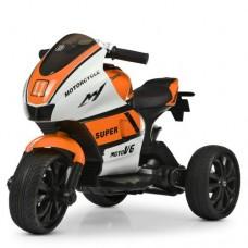 Детский мотоцикл Bambi M 4135 EL-1-7 Yamaha, бело-оранжевый
