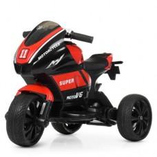 Детский мотоцикл Bambi M 4135 EL-3 Yamaha, черно-красный