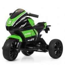 Детский мотоцикл Bambi M 4135 EL-5 Yamaha, черно-зеленый