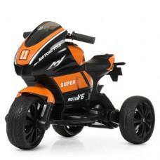 Детский мотоцикл Bambi M 4135 EL-7 Yamaha, черно-оранжевый