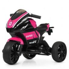 Детский мотоцикл Bambi M 4135 EL-8 Yamaha, черно-розовый