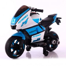 Детский мотоцикл Bambi M 4135 L-1-4 Yamaha, бело-синий