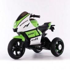 Детский мотоцикл Bambi M 4135 L-1-5 Yamaha, бело-зеленый