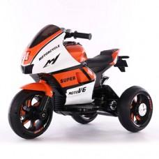 Детский мотоцикл Bambi M 4135 L-1-7 Yamaha, бело-оранжевый