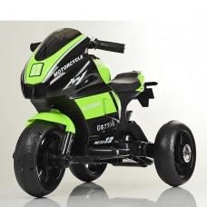 Детский мотоцикл Bambi M 4135 L-5 Yamaha, черно-зеленый