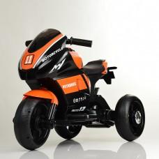 Детский мотоцикл Bambi M 4135 L-7 Yamaha, черно-оранжевый