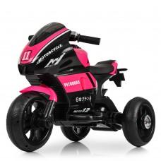 Детский мотоцикл Bambi M 4135 L-8 Yamaha, черно-розовый