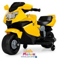 Детский мотоцикл Bambi M 4160-6 BMW, желтый