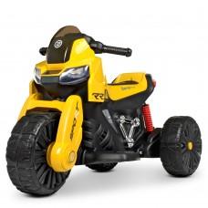 Детский мотоцикл Bambi M 4193 EL-6 BMW, желтый