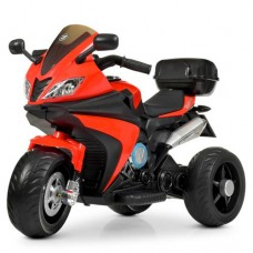 Детский мотоцикл Bambi M 4195 EL-3 BMW, красный