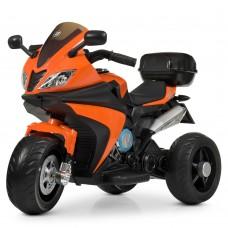 Детский мотоцикл Bambi M 4195 EL-7 BMW, оранжевый