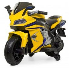 Детский мотоцикл Bambi M 4202 EL-6 BMW, желтый