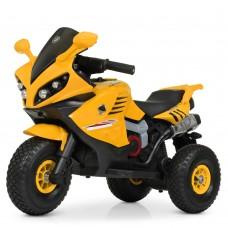 Детский мотоцикл Bambi M 4216 AL-6 BMW, желтый