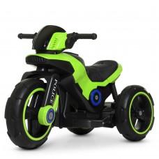 Детский мотоцикл Bambi M 4228 EBL-5 Police, зеленый