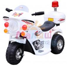 Детский мотоцикл Bambi M 4251-1 Police, белый