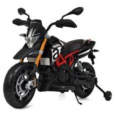 Детский мотоцикл Bambi M 4252 EL-2 Aprilia Dorsoduro 900, черный